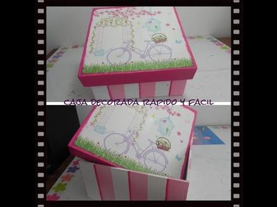 Caja decorada con servilleta, rápido y fácil
