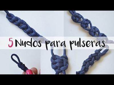 Cómo hacer 5 nudos para pulseras paso a paso. Bisutería. 2.5 #62