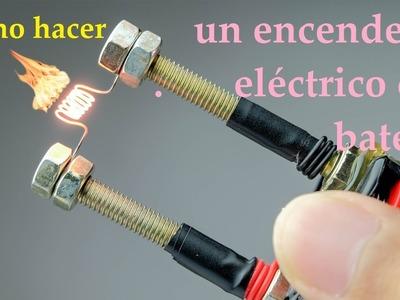 Cómo hacer un encendedor eléctrico con batería || Increíbles Experimentos Caseros || Trucos