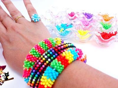 Creamos Tres Pulseras Hechas de Flower Beads