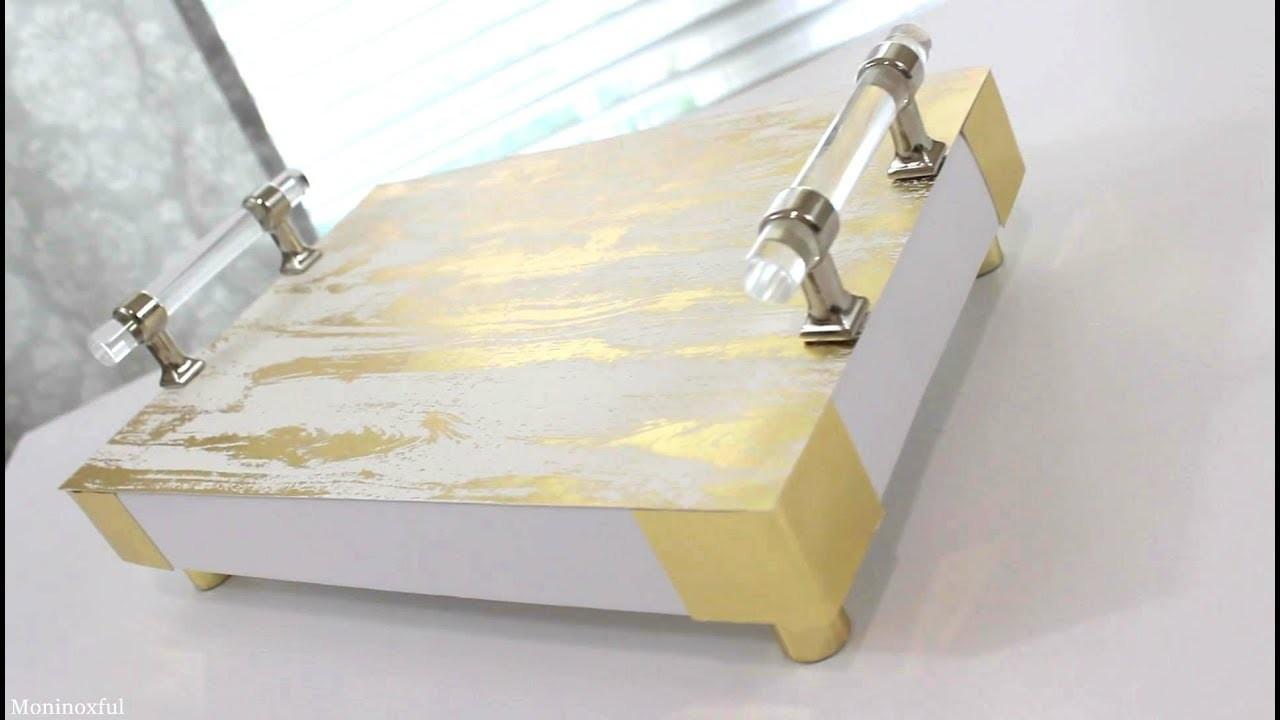 DIY- Cómo Hacer Bandeja Decorativa Reciclando Tapa de Cartón