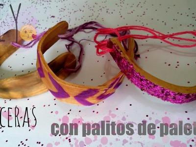 DIY Pulseras con Palitos De PALETAS!!
