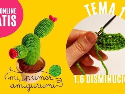 Ganchillo paso a paso | Cómo hacer la Disminución | Curso Mi primer amigurumi (Tutorial crochet)