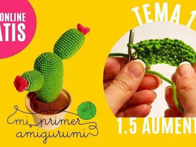 Ganchillo paso a paso | Cómo hacer aumento | Tema 1.5 Curso Mi primer amigurumi (Tutorial crochet)