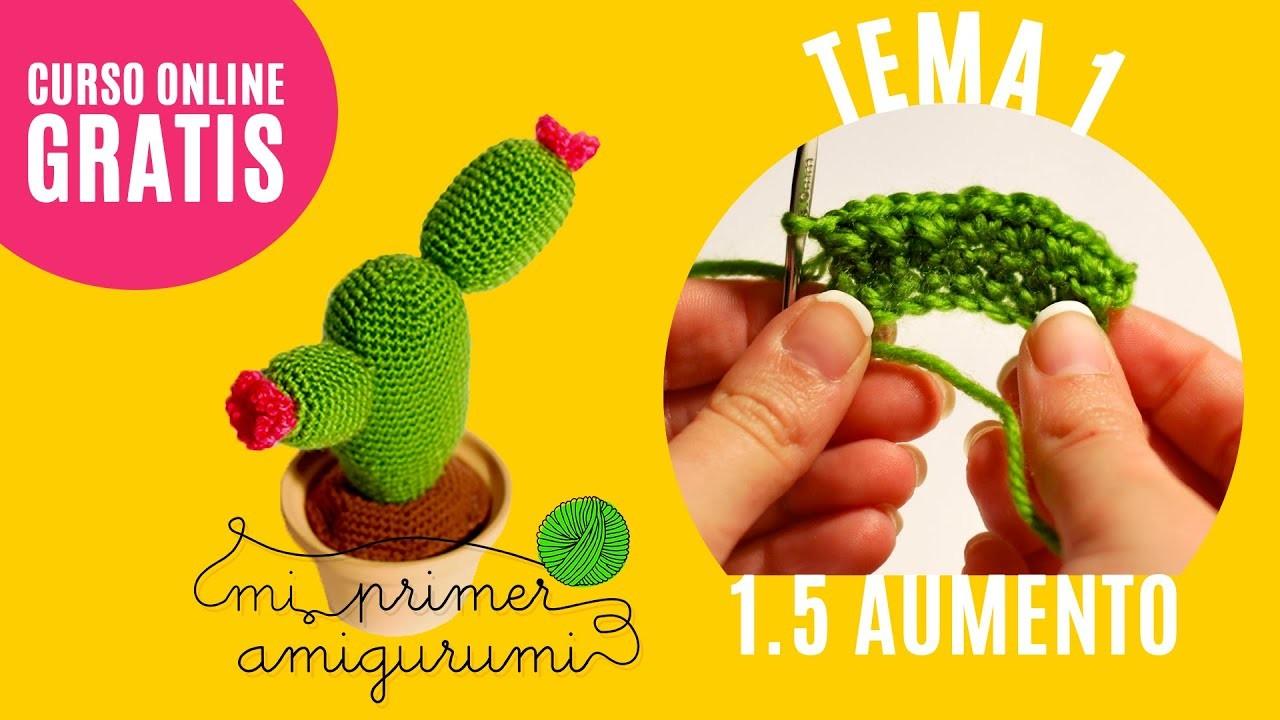 Ganchillo paso a paso   Cómo hacer aumento   Tema 1.5 Curso Mi primer amigurumi (Tutorial crochet)
