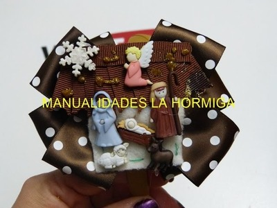 Lindas ideas de Diadema Nacimiento Navidad,Make Simple Easy Bow,