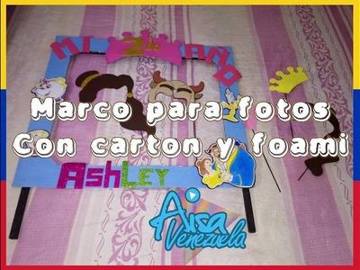 Marco de fotos para fiesta con carton bella y la bestia | AisaVenezuela
