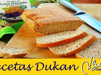 Pan de Linaza Dukan en Horno. Dukan Flaxmeal Bread Recipe