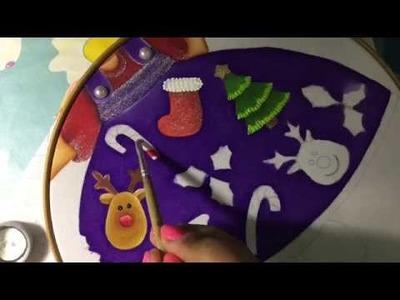 Pintura En Tela Niña Navidad # 4 Con Cony