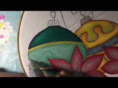 Pintura En Tela Nochebuena # 3 Con Cony