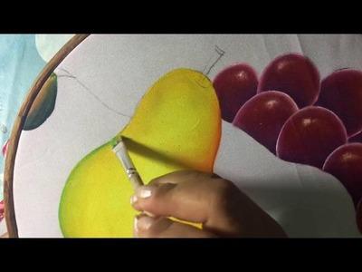 Pintura En Tela Pera Con Cony
