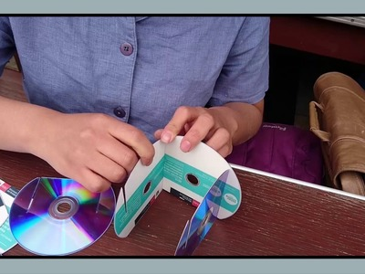 Reciclaje de CD.DVD: Porta Lápices (Saneamiento Ambiental II - Grupo N°07 TB)