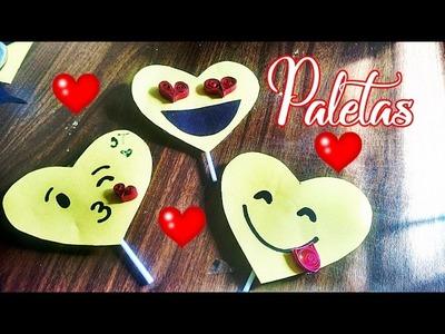 Regala en san valentin paletas de emoji