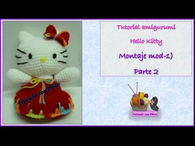 Tutorial amigurumi Hello Kitty - Montaje 2.2 (mod-1)