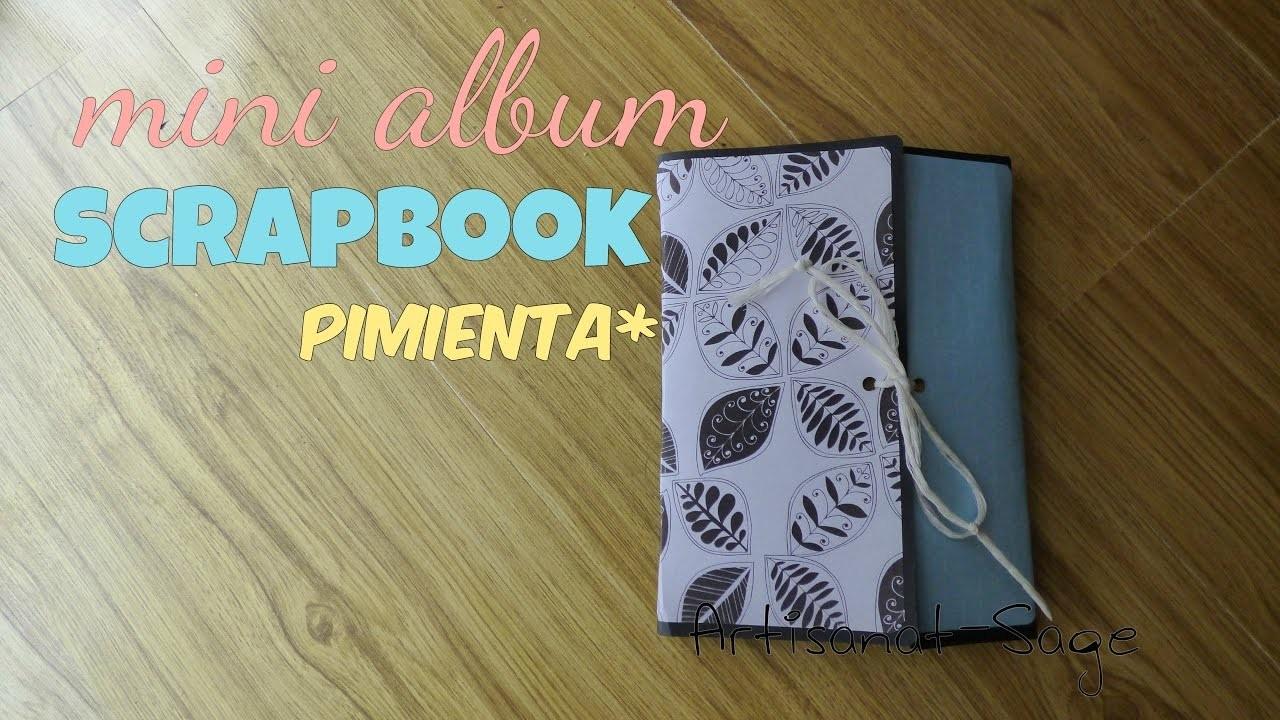 Album Scrapbook Pimienta-Para mi novio-Amigos[Artisanat-Sage]