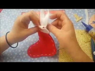 Botita navideña| como hacer una bota navideña