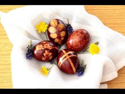 Cómo hacer huevos de Pascua con colorante natural