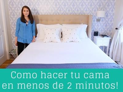 Como hacer tu cama en menos de 2 minutos! | Clean Casa