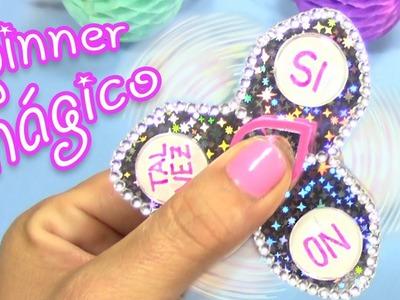 DIY CÓMO HACER UN FIDGET SPINNER MÁGICO - Pregúntale al spinner mágico!!