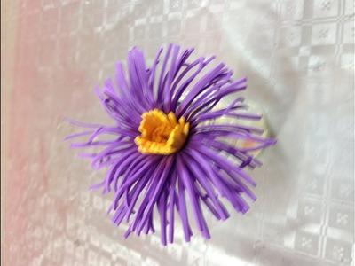 Flor en goma eva o foamy   Flower made with foamy