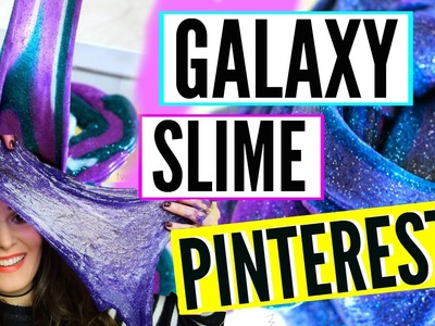 GLITTER GALAXY SLIME - PROBANDO PINTEREST | STEPHT