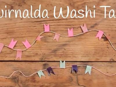Guirnaldas con washi tape | Adornos fáciles para niños