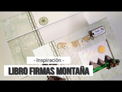 LIBRO DE FIRMAS PARA COMUNIÓN CON TEMÁTICA MONTAÑERA - INSPIRACION | LLUNA NOVA SCRAP