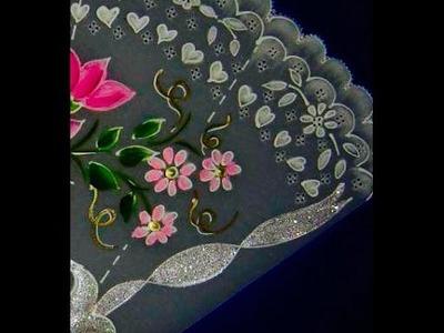 Manualidades con papel pergamino.Como hacer una Invitación