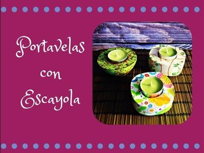 Portavelas con Escayola. DIY