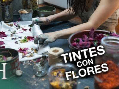 Tintes con flores