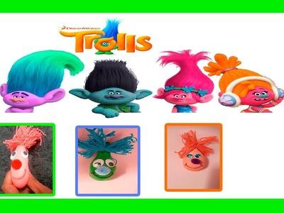 Trolls moldeables  con globos. Haz tus propios trolls