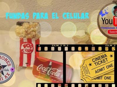 2 Fundas para el Celular.Palomitas y Coca Cola.DIY PHONE CASES (Pop Corn)