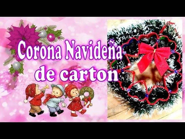 Adorno Navideño con rollo de carton: Coronita -DelCarmenArtesanal-