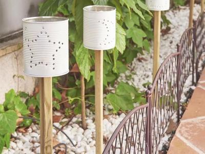 Antorchas eco para iluminar el jardín (Leroy Merlin)