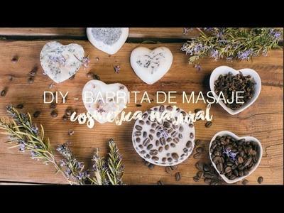 Barrita de masaje, cosmética natural hecha en casa- DIY Lush