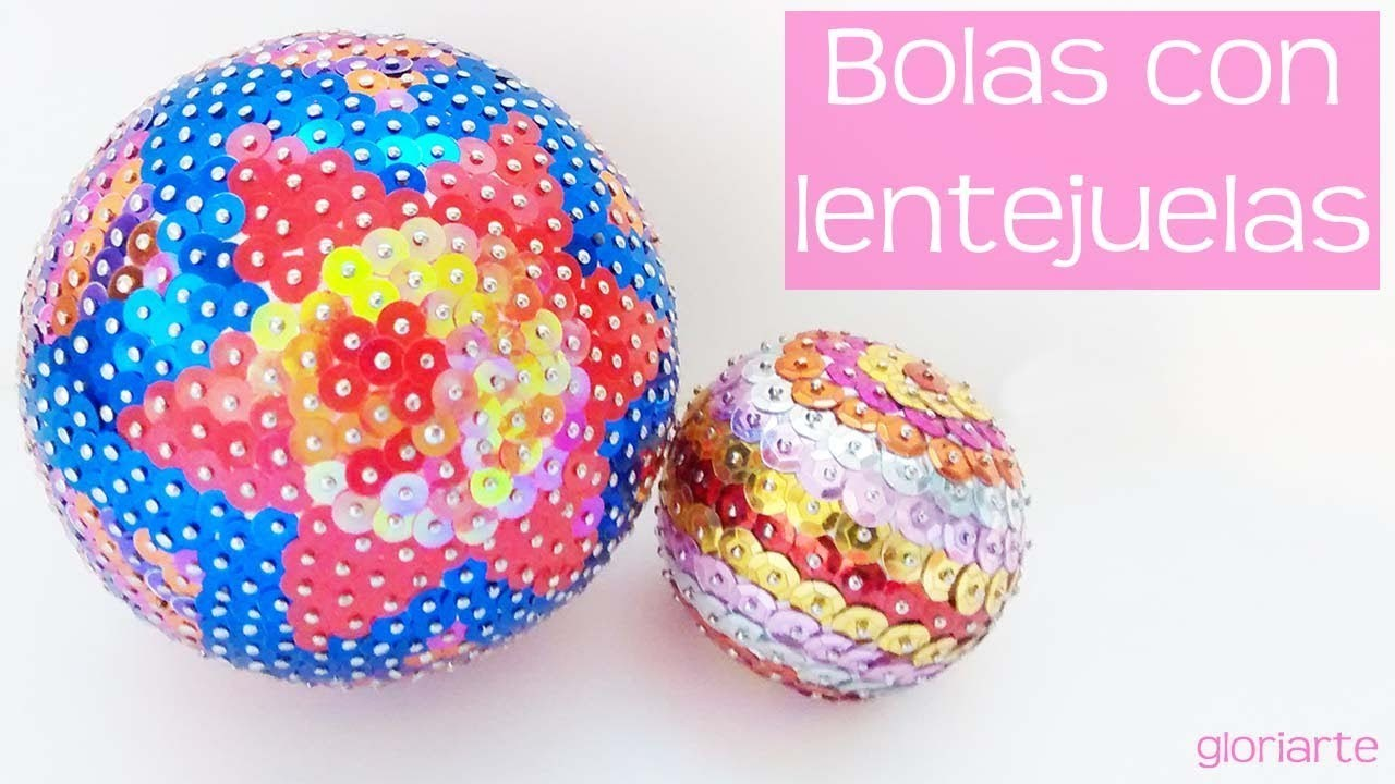 Bolas de Lentejuelas DIY. Sequins balls.