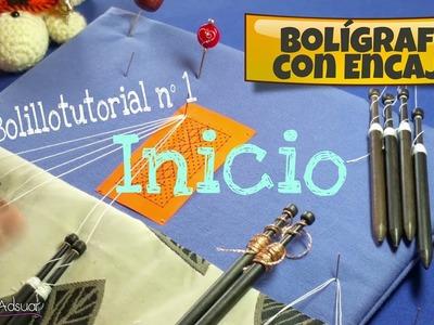 Bolígrafo con Encaje - Bolillotutorial 1 Inicio en Recto . Raquel M. Adsuar Bolillotuber