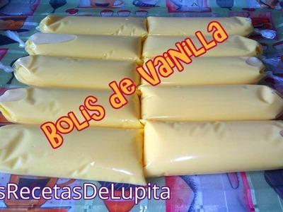 BOLIS DE VAINILLA GOURMET.LAS RECETAS DE LUPITA