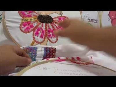 Bordado fantasia MUESTRARIO  niña bailarina Centro crisantema marimur  699