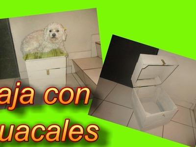 Caja de secretos (con candado) reciclando cajas de fruta *guacales*