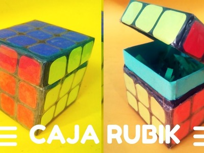 Caja en forma de cubo rubik. caja rubik. Gio Yeah