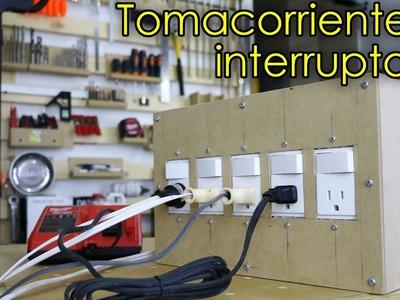 Caja. Extensión eléctrica con interruptores individuales