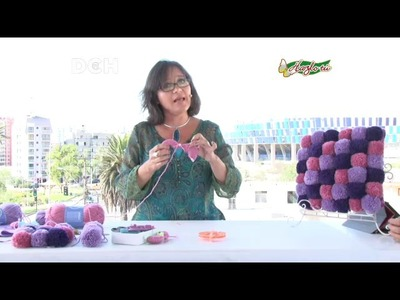 Cojín con Pompones - Yasna Pino - Casa Puchinni