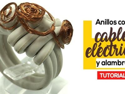 Como Hacer Anillos Con Cable Eléctrico Y Alambre Fáciles De Hacer