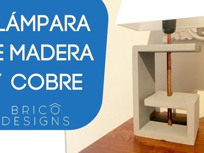 Como hacer una lámpara de madera | DIY desk lamp