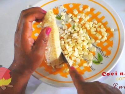 Crema de elote receta   Cream of cornmeal recipe