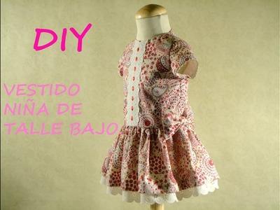 Diy Vestido niña de talle bajo: Como hacer un vestido de niña.