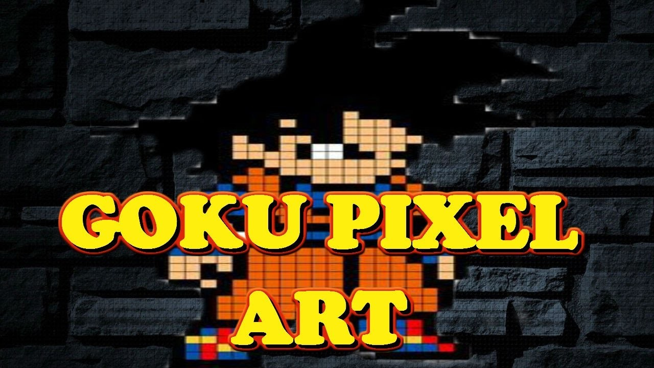 DRAGON BALL PIXER ART GOKU