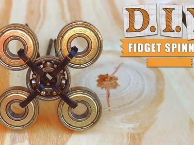 Fidget Spinner Barato, sencillo y casero - como hacer. how to make