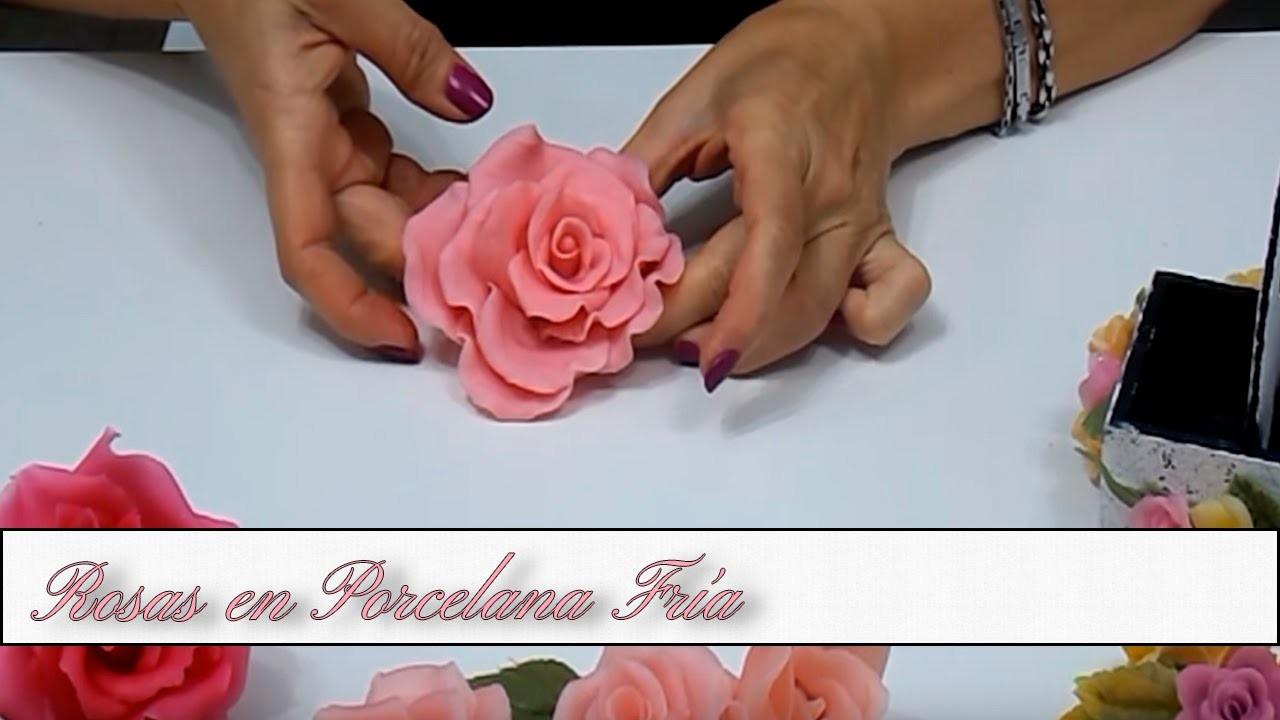 Hacer una Rosa en Porcelana Fria